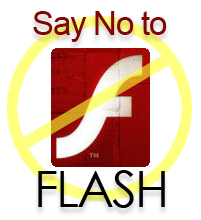 no flash web design