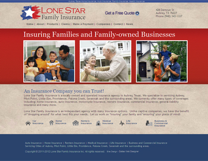 dallas-web-design-insurance-company-lonestarfamilyinsurance